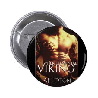 """""""Her Elemental Viking"""" Book Cover - Circle Button"""