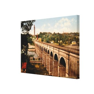High Bridge in New York City Photo-Print (1900) Canvas Print