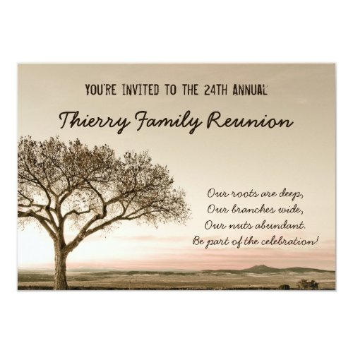 High Country Family Reunion Invitation
