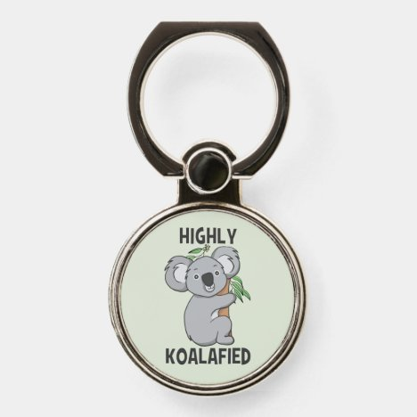 Highly Koalafied Koala Phone Ring Stand