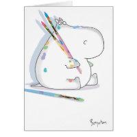 HIPPO ARTIST Birthday Card