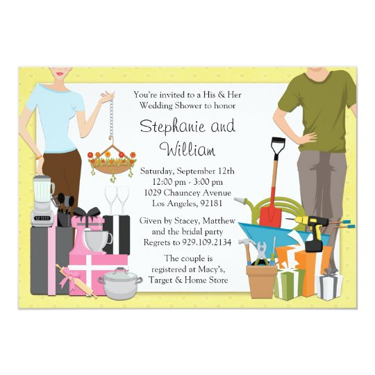His And Hers Bridal Shower Invitations
