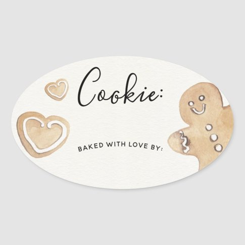 Holiday Cookie Exchange Sticker Label