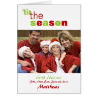 Holiday Greeting Card with Photo and Names
