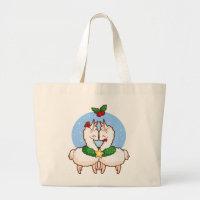 Holiday Love Llamas Large Tote Bag