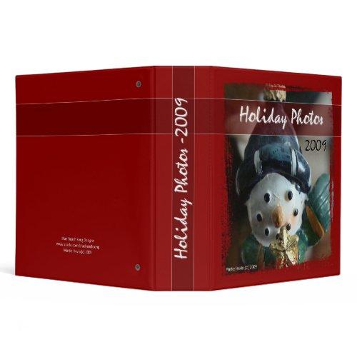 Holiday Photos 2009 - Snowman Binder binder