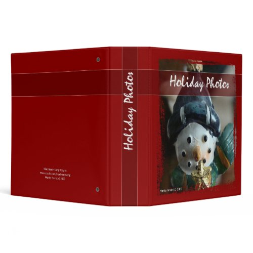 Holiday Photos - Snowman Binder binder