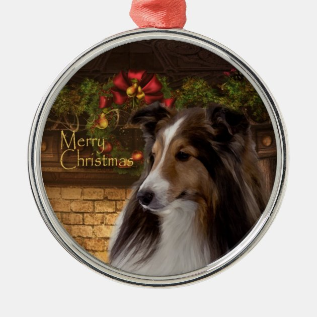Holiday Sheltie Ornament Zazzle