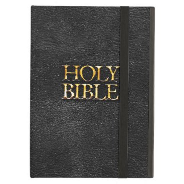 Holy Bible Christian Religion Faux Black Leather iPad Air Case