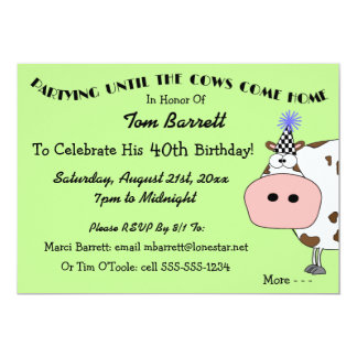 40th birthday party invitations funny Cogimbous