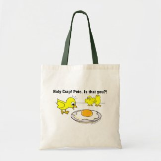 Holy Crap! Pete, is that you? Tote Bags
