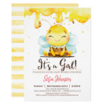 Honey Bee Baby Shower Girl Invitation