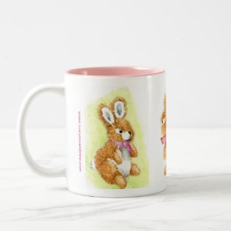 """Honey Bunny"" cuddly toy Happy Birthday Mug"
