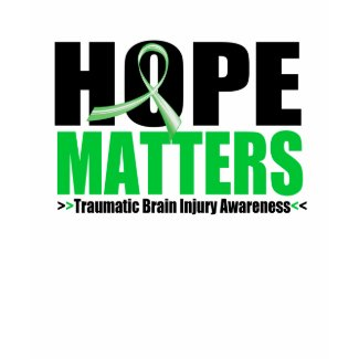 Hope Matters Brush Ribbon Traumatic Brain Injury shirt