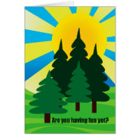 Hope You're Having Fun at Summer Camp for Child Card