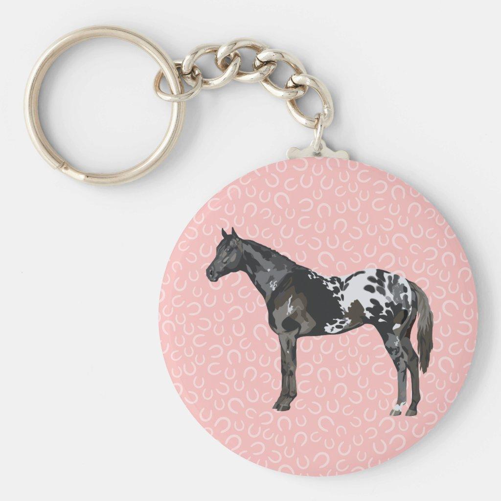 Horse Keychain Button