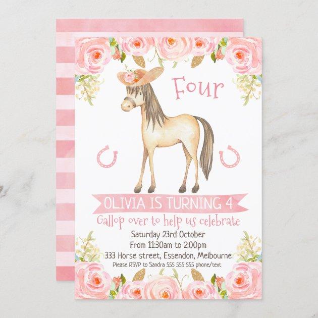 horse party invitations for girl zazzle com