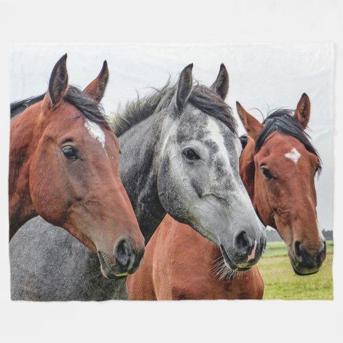 Horses Fleece Blanket