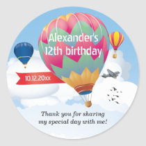 Hot Air Balloon Party Sticker