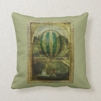 Hot Air Balloon Voyage Throw Pillows