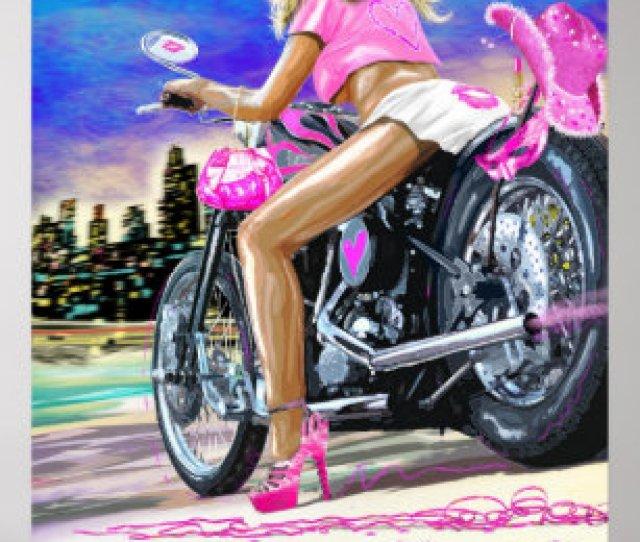 Hot Biker Chick Poster