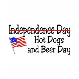 Hot Dogs and Beer Day July 4th shirt