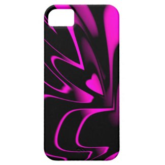 Hot Piink/BLK Anstract Cover For iPhone 5/5S