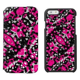 Hot Pink Abstract Incipio Watson™ iPhone 6 Wallet Case