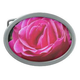 Hot Pink Rose - Belt Buckle