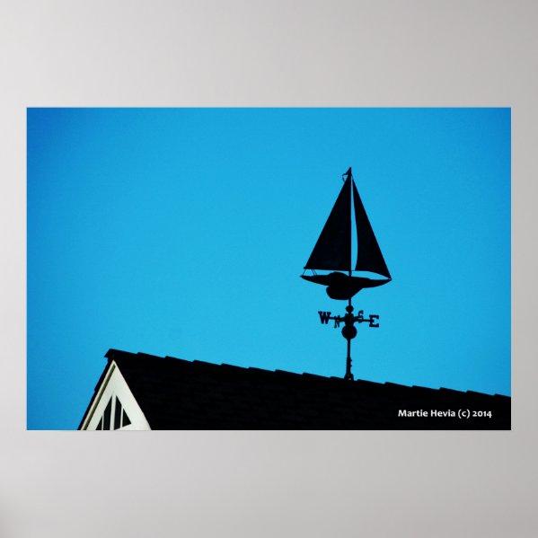 House Sailboat Vane Posters