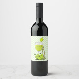 How Wine is Made Funny Design Wine Label