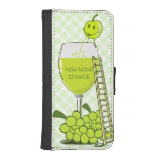 How Wine is Made Funny Illustration Phone Wallets