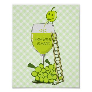 How Wine is Made Funny Illustration Posters