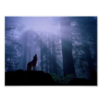 Howling Wolf Poster