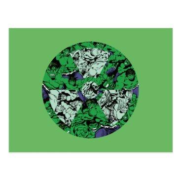Hulk Comic Patterned Radioactive Symbol Postcard