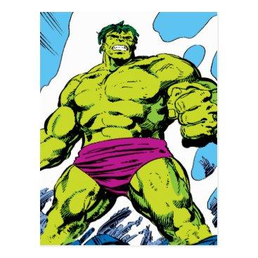 Hulk In Smoldering Ruins Comic Panel Postcard