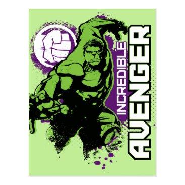 Hulk Incredible Avenger Postcard