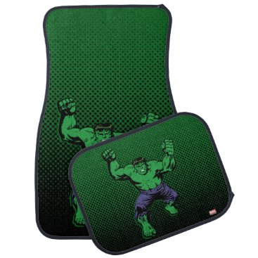 Hulk Retro Arms Car Floor Mat