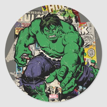 Hulk Retro Comic Graphic Classic Round Sticker