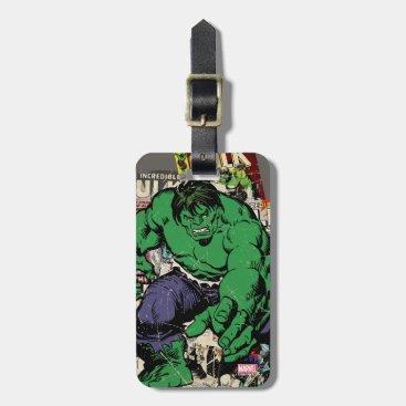 Hulk Retro Comic Graphic Luggage Tag