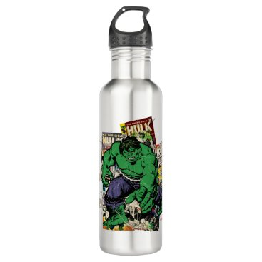 Hulk Retro Comic Graphic Stainless Steel Water Bottle