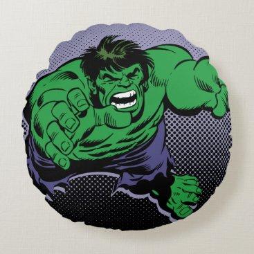 Hulk Retro Dive Round Pillow