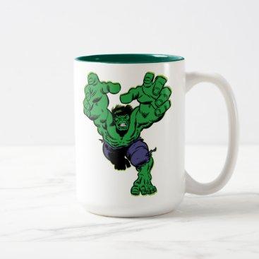 Hulk Retro Grab Two-Tone Coffee Mug