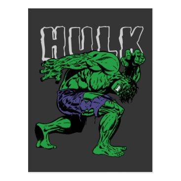 Hulk Retro Lift Postcard