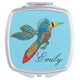 """""""Hummingbird"""" Personalized Compact Mirror"""