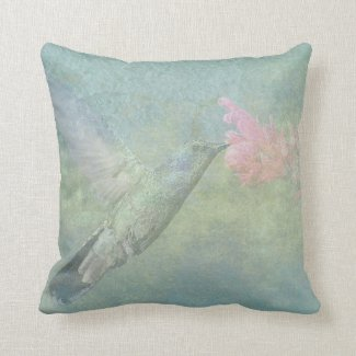 Hummingbird Tune Throw Pillow