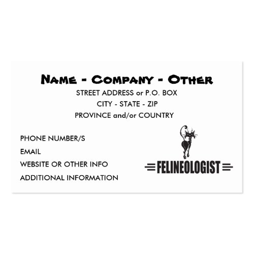 Humorous Cat Business Card Templates