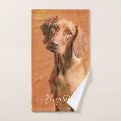 Hungarian Vizsla Dog Hand Towel