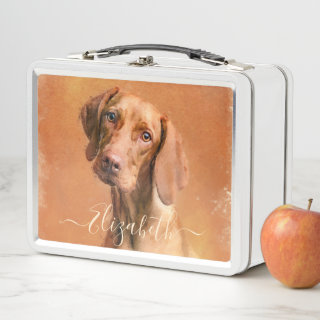 Hungarian Vizsla Dog Metal Lunch Box