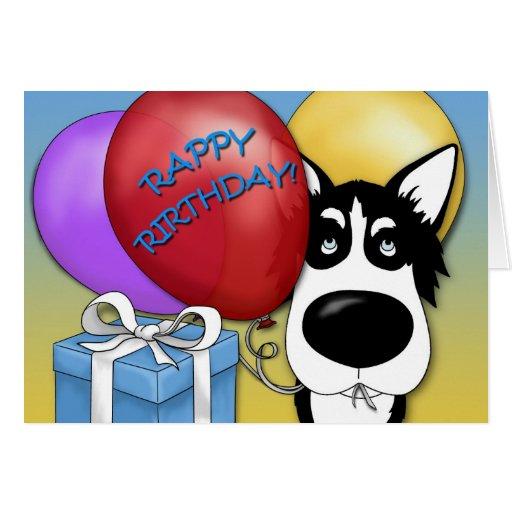 Husky Birthday Card Zazzle